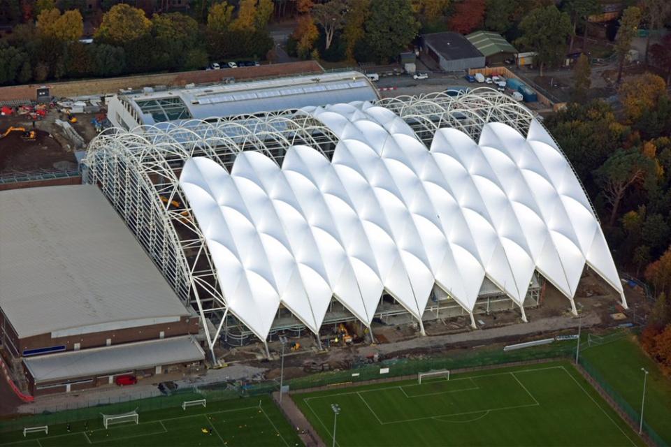 Oriam Scotland roof development
